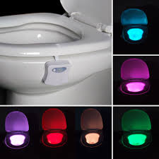Toilet Bowl Light Details About Toilet Night Light Motion Activated 8 Color Led Sensor Bowl Seat Glow Lamp