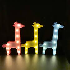 Night Light For Children S Bedroom Cherir3d Giraffe Lamp Sign Night Light Childrens Bedroom Decorate Nursery Light Led Lamp Kids Room