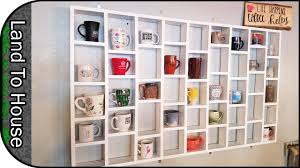 It features a rustic finish and wooden. Diy Coffee Mug Holder Wall Mounted Rack Youtube