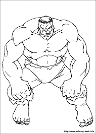 incredible hulk coloring pages on book free