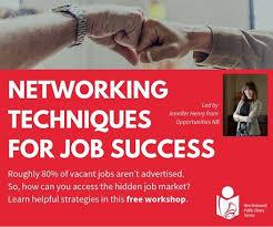 Networking Techniques Networking Techniques For Job Success En At Moncton Public
