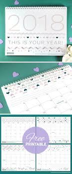 free printables four stylish 2018 calendars blog botanical