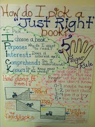 Just Right Book Anchor Chart 4th Grade Bedowntowndaytona Com