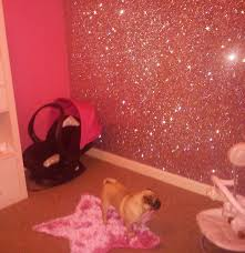 Pink Wallpaper Bedroom 49 Units Of Pink Glitter Wallpaper