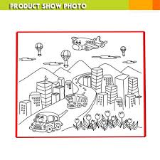 FANTASTIC COLOUR DRAWING MAT Kids Colouring World Map 50cm X 50cm