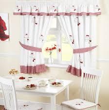 Strawberry Kitchen Curtains Strawberry Cake Embroidered Kitchen Curtains