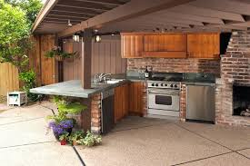 backyard kitchen designs outdoor with smoker cool builders ready