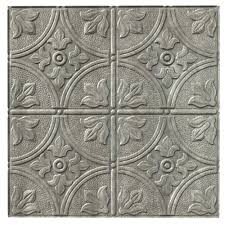 traditional 2 cross hatch silver ceiling tile the home depot fasade tiles menards ceiling tiles