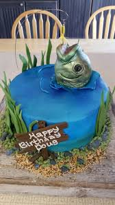 Fishing Cakes For Fathers Birthday Isomeriscom House Magazine
