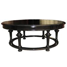black reclaimed wood round coffee table in an interesting design