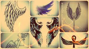 эскизы тату крылья интересные рисунки для татуировки с крылом