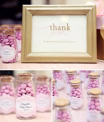 if you re looking for girls baby shower party favor ideas check out these lovely little jars filled with bright pink m m s