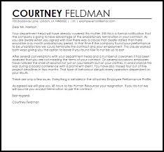 sales rep termination letter probation termination letter termination letters livecareer