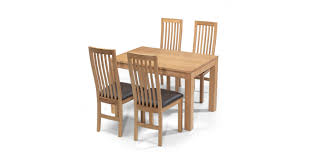 table and 4 chairs. cuba oak 160 cm dining table and 4 chairs n