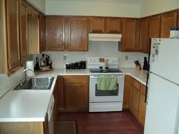 White Appliances With Oak Cabinets
