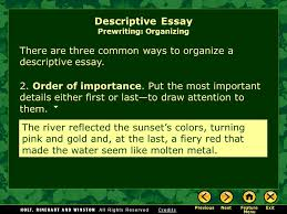 writing workshop descriptive writing descriptive essay ppt  11 the