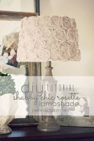 shabby chic lighting. Do It Yourself Lamp Shade From: Simply Ciani: Diy Shabby Chic Rosette Lighting