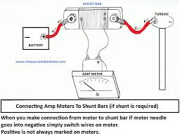 connecting amp meters to shunt barsadvice for wind turbine and connecting amp meter to shunt bar