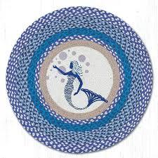mermaid area rug blue mermaid round braided rug capitol earth rugs mermaid scale area rug