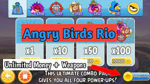 Angry Birds Rio Mod | Unlimited Money + Weapons