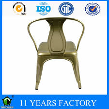 metal frame powder coating and shining oil painting high backrest dining chair