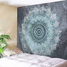 mandala wall art hanging beach throw tapestry gray w71 inch l91 inch on mandala wall art with 2018 mandala wall art hanging beach throw tapestry gray w inch l