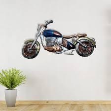 on metal bike wall art with decorative metal bike wall hanging blue
