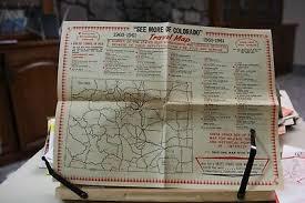 Colorado Mileage Chart Colorado Department Of Highways 1953 Illustrated Brochure