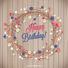 Floral Birthday Card Vector Free Download