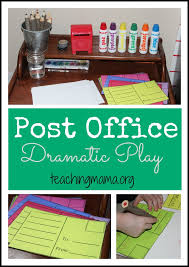 office play. Post Office Dramatic Play