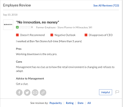 post mortem bon ton s glassdoor profile continues to get updated with reviews about the company from former employees with some laying into upper