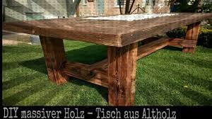 Solider Tisch Aus Altholz Selber Bauen Diy Holz Projekt Youtube