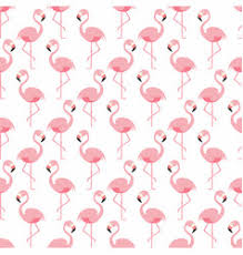 Flamingo Pattern Simple Flamingo Seamless Pattern Pink Flamingo Standing Vector Image