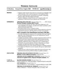 resume examples medical assistant back office resume sample front - Sample Medical  Student Resume