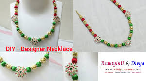 Jewelry Designs Diy Diy Easy And Simple Designer Necklace Making Silk Thread Jewellery Silk Thread Necklace