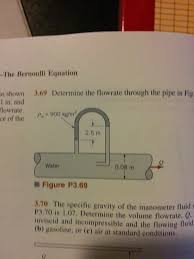 determine the flowrate through the pipe in fig t
