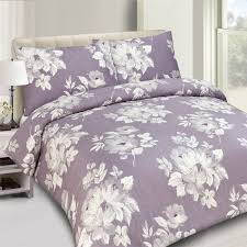 purple flower 100 cotton 200 thread count duvet cover set king size duvet covers uk