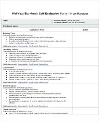 Job Self Evaluation Sample Harezalbaki Co