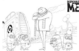 Small Picture Kids Cartoon Despicable Me Coloring Pages Cartoon Coloring pages