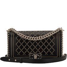chanel boy bag. chanel black lambskin chain quilted medium boy bag image 1