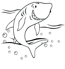 reef shark coloring page