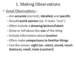 inquiry review review topics preview making observations  2 1 making observations good observations