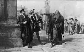 shylock is my brings shakespeare to the present but is it salanio and salarino encounter shylock on a street in venice in act iii scene