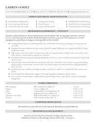 Entry Level Hr Resume Templates At Allbusinesstemplates Com