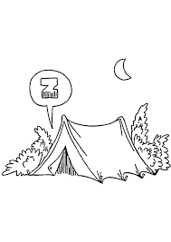 Kleurplaat Vakantie In De Tent Op De Camping 4505 Kleurplaten