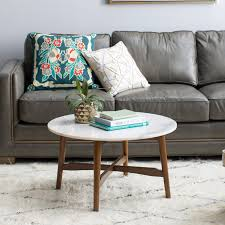 belham living james round mid century modern marble coffee table com