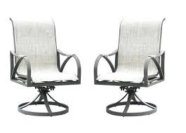 rocking swivel patio chairs backyard creationsar lacey swivel rocker dining patio chair 2 pack swivel rocker