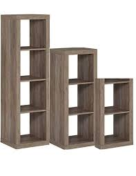 better homes and gardens 3 piece cube organizer storage bookshelf in rustic gray bundle set review