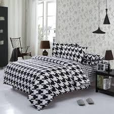 striped linen duvet cover plan classical black white cotton bedding set home textile bed linen