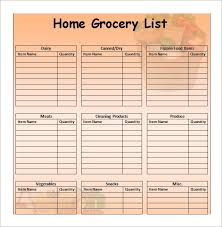 Grocery Shopping Template | Kicksneakers.co